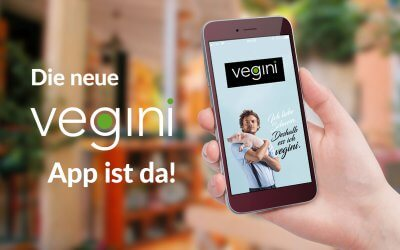 Jetzt mit der vegini App Prämien kassieren!